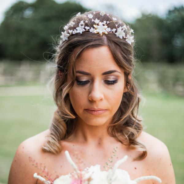 rose gold bridal hair crown rachel sokhal