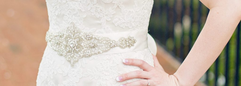 Pearl and Crystal Bridal Belt - Martine